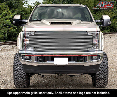 APS Compatible with 2017-2019 Ford F-250 F-350 F-450 F-550 Without Front Camera Aluminum Chrome Horizontal Billet Grille Insert F86363A