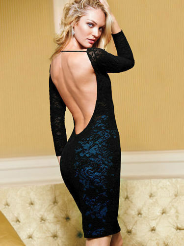Victoria S Secret Open Back Lace Dress Size Xs