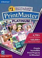 Printmaster Platinum (latest Version 7----2015) Windows & Mac Software------new