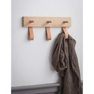 Details About Wooden 3 Peg Rail For Hallway Bedroom Wall Mounted Rail Hanger For Coats Hook Uk