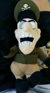 "Rocky & Bullwinkle FEARLESS LEADER Plush 10"" Toy NEW"