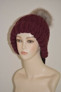 66733b84af7 New WithTags Parkhurst Chunky Faux Fur w  pom hat style   17757