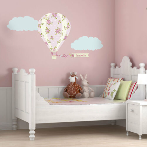 Personalised vintage hot air balloon wall stickerTransport themed decor