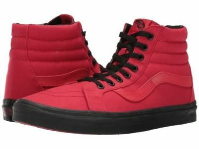 f2d0da5d7c Vans Black Outsole SK8 HI Reissue Racing Red/Black Sneakers Women's ...