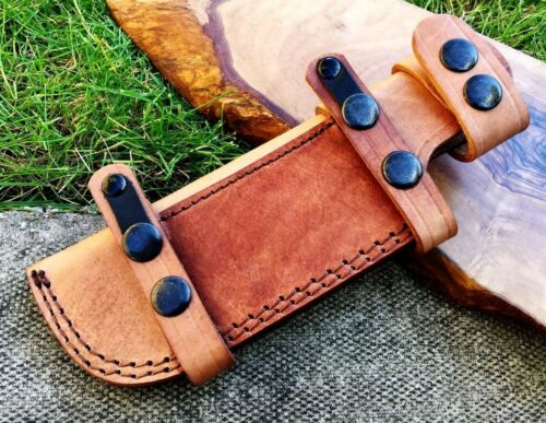 Titans Premium Handmade Tan Leather sheath 22 cm Bushcraft Camping Knives 1tn