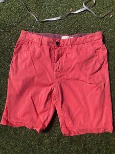 Rivet-Island-Waist-34-Mens-Shorts-Pink