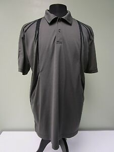 Izod-Golf-Polo-Shirt-Cool-Fx-Athletic-Breathable-Gray-Black-Men-039-s-Size-XL
