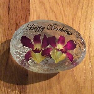 HAPPY BIRTHDAY (HAND MADE WITH REAL ORCHID)