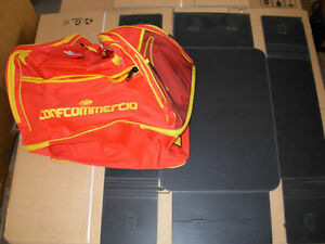 borsa borsone fc messina nuovo no maglia calcio rosso + fondo duro
