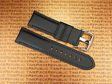 24mm Pam 1950 Black Leather Kevlar Strap TOILE Fabric Tang Tongue Watch Band