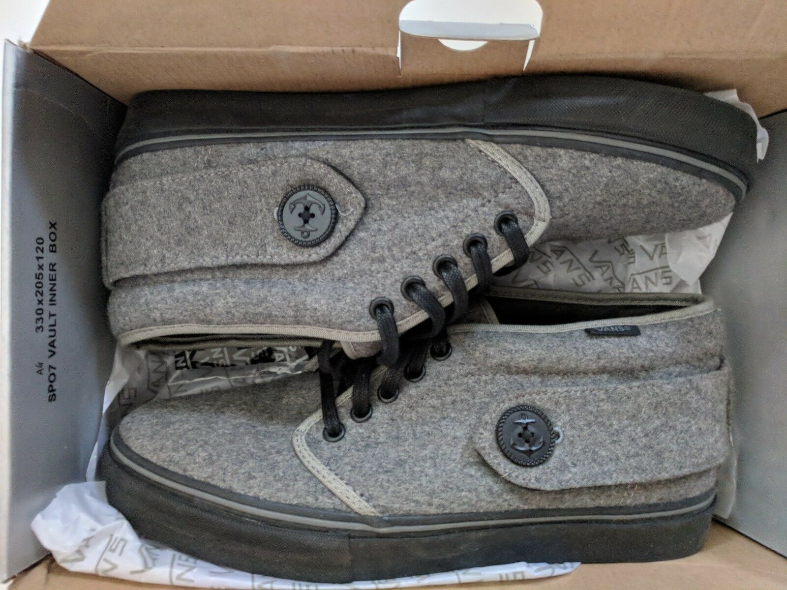 Vans Vault Peacoat LX Chukka Grey Pewter/Black sz 10 US