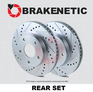 REAR SET BRAKENETIC SPORT Drilled Slotted Brake Disc Rotors BNS34074.DS