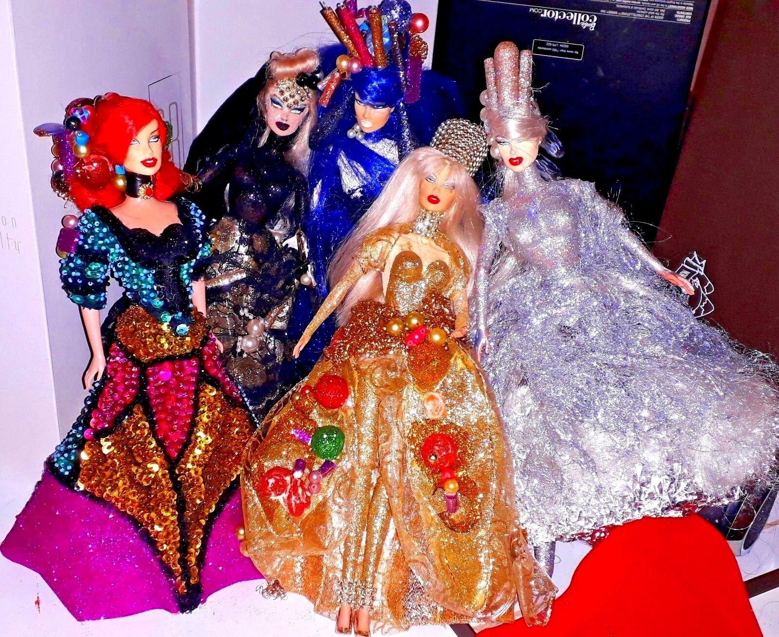 LOTTO ooak CUSTOM FASHION ROYALTY BARBIE MUSE CUSTOM ooak OOAK Gothic Fashion royaltyART DOL 376a1d