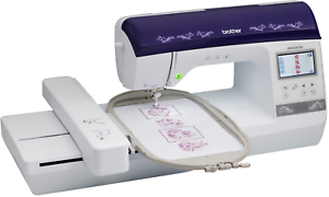 Brother bp e embroidery machine with color screen usb