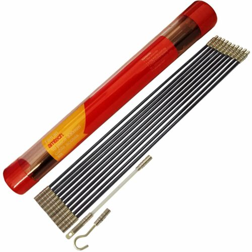 Amtech S4197 10 x 330mm Kabel Zugriff Set Stangen Elektriker Dielen Selbermachen