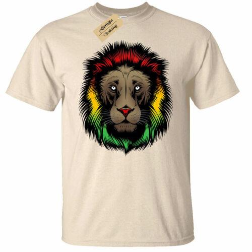 Rasta Lion Mens T-Shirt reggae Jamaican Rastafarian marley jungle Jamaica