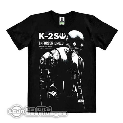 Star Wars Rogue One T-Shirt Easy Fit Organic K-2SO Enforcer Droid LOGOSHIRT