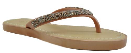 Ladies Womens Flat Slip On Sandals Open Toe Post Jelly Flip Flops Slippers Size