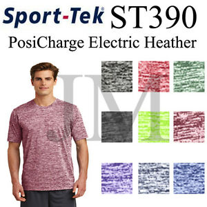 Sport-Tek-ST390-PosiCharge-Electric-Heather-Dri-Fit-Tee
