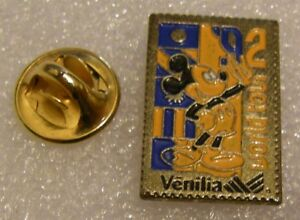 MICKEY-MOUSE-WORLD-TOUR-2-VENILIA-vintage-DISNEY-pin-badge-Z4X