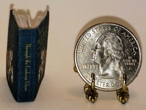 1:12 SCALE MINIATURE BOOK THROUGH THE LOOKING GLASS LEWIS CARROLL
