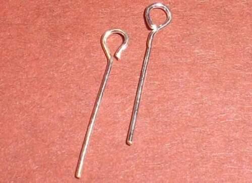 Nietstifte 925er Silber 0,5x15mm Kettelstifte 10 Stück.
