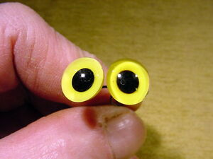 a pair vintage Glass Eyes with wire size 12 mm age 1910 made in Lauscha E 731