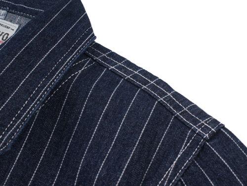 Railroad Denim Jacket Vintage Striped Men/'s Work Jean Chore Casual Outwear