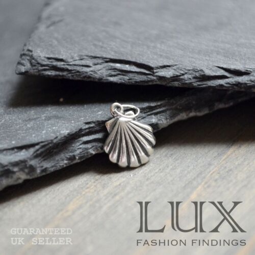 1 x Sterling Silver Sea Shell Beach Charm Jewellery Making Gift