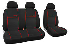 Autositzbezug im Design TRENDLINE passend für VW T5 mit roter Lamelle