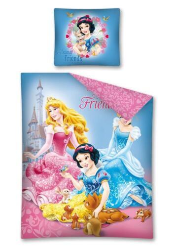 Princesses SINGLE DUVET COVER /& EUROPEAN PILLOWCASE SET 100/% COTTON REVERSIBLE