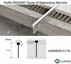 Profilo di separazione giunto alluminio pavimento piastrelle massetto projoint ebay - Asciugatura massetto per piastrelle ...