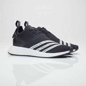 best loved 61d64 bb23a Image is loading BB2978-Adidas-Men-White-Mountaineering-NMD-R2-Primeknit-