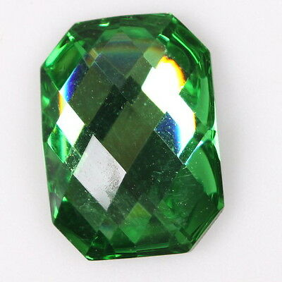 30x 241132 Hotsell Green Faceted Octagon Resin Stick-on Flatback Embellishments