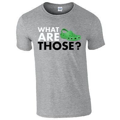 ¿ Qué son? Crocs T-shirt - Funny Croc Zapatos inspirado Regalo Broma Para Hombre superior