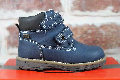 Neu Be Mega Jungen Stiefel Schuhe Boots Stiefeletten Klettverschluss Warmf. TEX