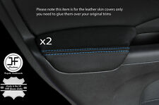 BLUE STITCHING 2X REAR DOOR ARMREST LEATHER COVER FITS HONDA CRV 2012-2016