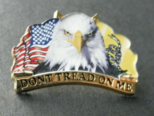 Don/'t Tread on Me 2nd Amendment Lapel Pin 1.25 inches