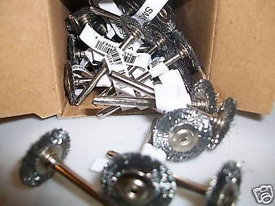 "36pc Steel Wheel Wire Brushes 1 1//2/"" Diameter"