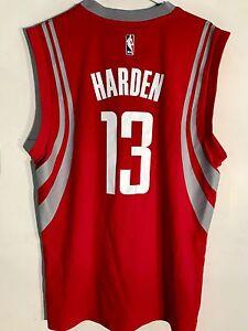 wholesale dealer 7b3e6 d1564 Details about Adidas NBA Jersey Houston Rockets James Harden Red sz XL