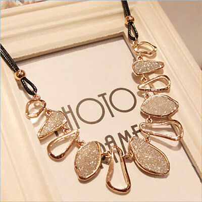 Women Fashion Chunky Chain Choker Bib Statement Chic Collar Pendant Necklace