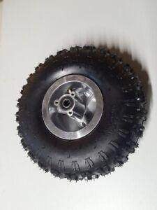 Kinderquadreifen Quadreifen Rad 4.10-4 Quad Reifen Schlauch Felge silber vorne