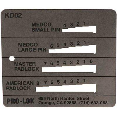 Pro-LokPin Key Decoder KD02 Model Medeco // Master /& American