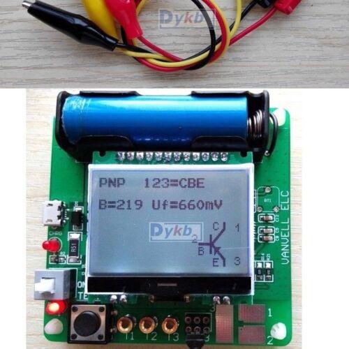 12864 Mega328 Transistor Tester Diode Triode inductor Capacitance ESR Meter LCR
