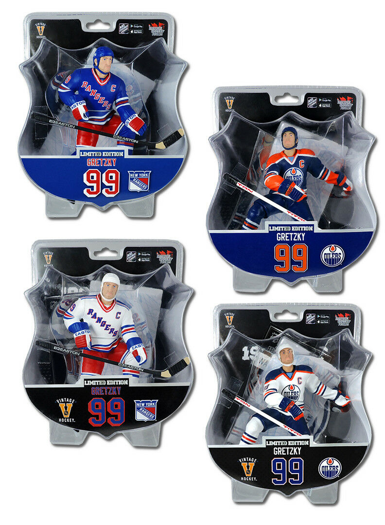 Wayne Gretzky Edmonton Oilers New York Rangers NHL 6  figures plus édition limitée ID Combo