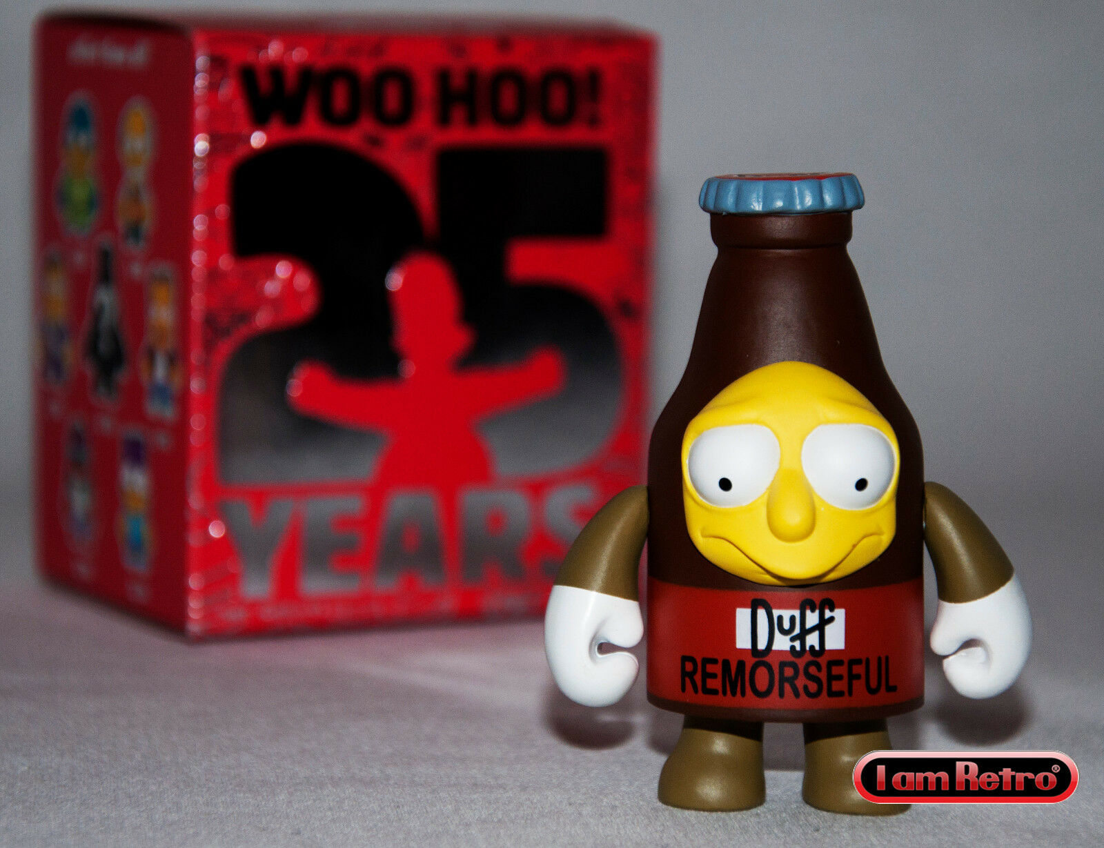"Remorseful Duff Simpsons Anniversary 3/"" Vinyl Mini Series Kidrobot Brand New"