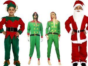 Kids Children/'s Santa Boy Christmas Costume 5 Pcs Suit Xmas Dress Fancy Up 10-12