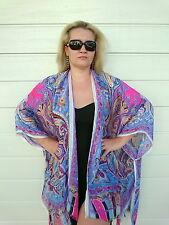 5cf90e13411 item 3 Womens Silk Kimono Robe Blouse Coat Cardigan Jacket Beach Cover Up  Tops 8-30 NEW -Womens Silk Kimono Robe Blouse Coat Cardigan Jacket Beach  Cover Up ...
