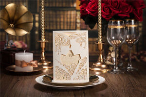 10x-Elegant-Wedding-Invitation-Card-Beige-amp-White-Laser-Cut-BulkBuy-Disc-Apply