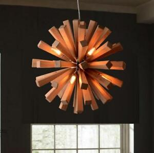 Image Is Loading New Modern DIY Wooden Flower Ceiling Chandelier Dining